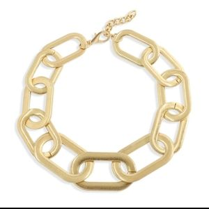 Large link metal necklace